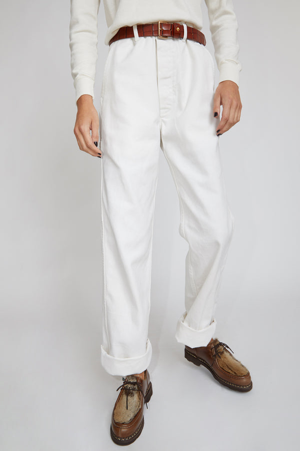 Sultan Wash Work Pant in Stone Craie