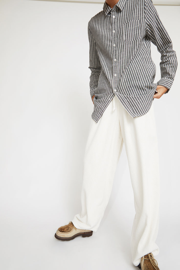 Image of Sultan Wash Work Pant in Velours Blanc Casse