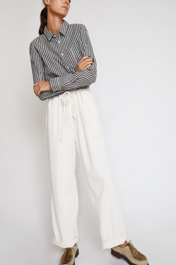 Sultan Wash Work Pant in Velours Blanc Casse