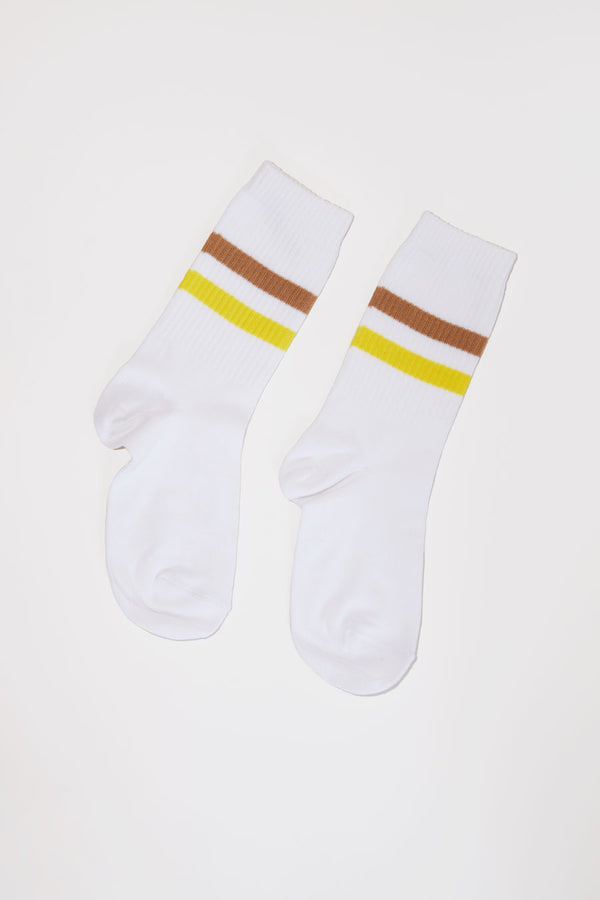 No.6 Tube Sock in White