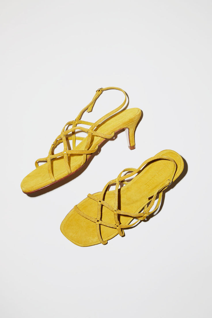Image of No.6 Vega Cage Sandal in Sun Suede