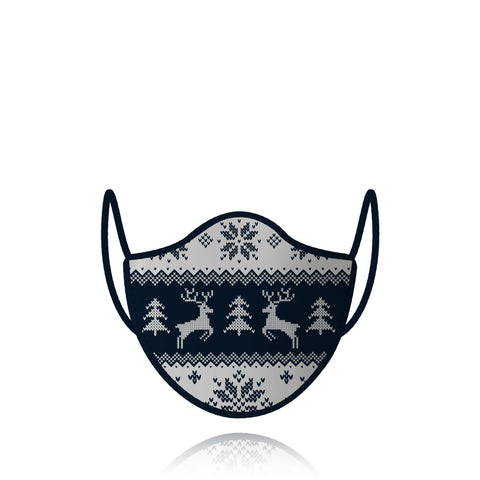 Knight Sportswear Christmas Jumper Navy/White - 2 x Face Mask Bundle