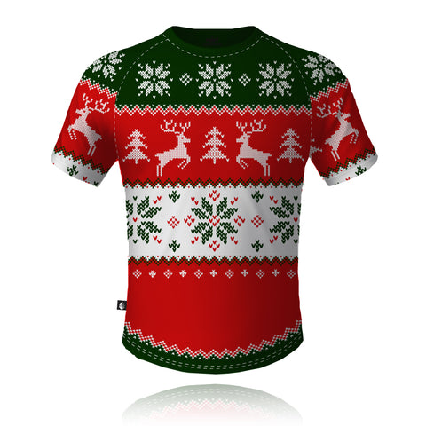 Knight Sportswear Christmas Jumper Red/Green - Tech Tee