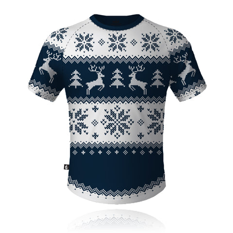 Knight Sportswear Christmas Jumper Navy/White - Tech Tee