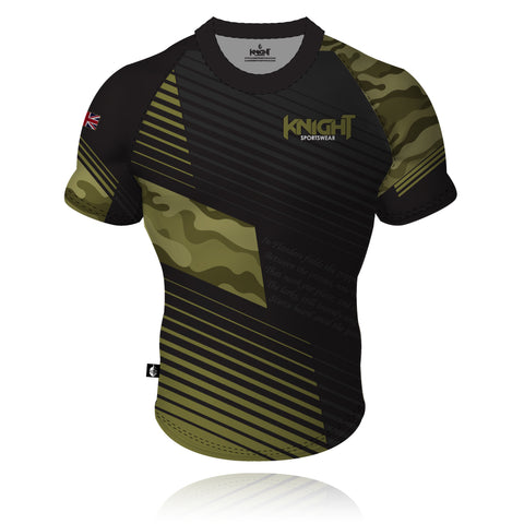 V7 Knight Sportswear Camouflage Rugby/Training Shirt