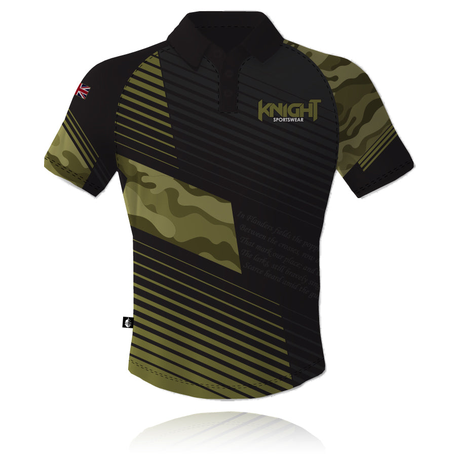 V7 Knight Sportswear Camouflage Tech Polo Shirt