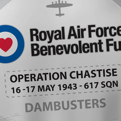 RAFBF White/Black - Operation Chastise 'DAMBUSTERS' - Tech Polo
