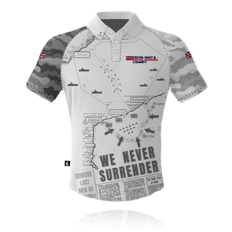 RNRMC Operation Dynamo White/Grey - Polo Shirt
