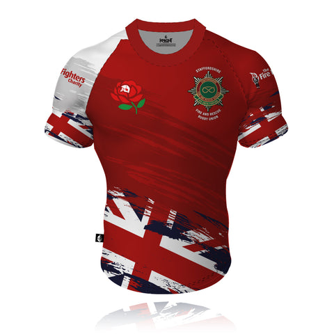 Staffordshire Fire & Rescue/England - Rugby Union Rugby Shirt