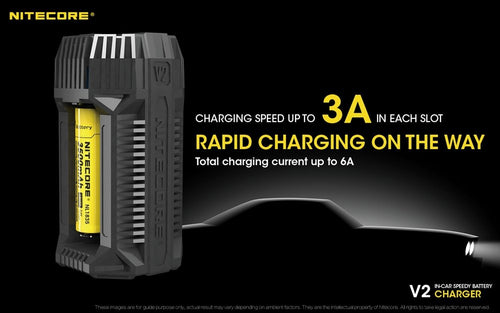 Nitecore V2 In Car Speedy Battery Charger