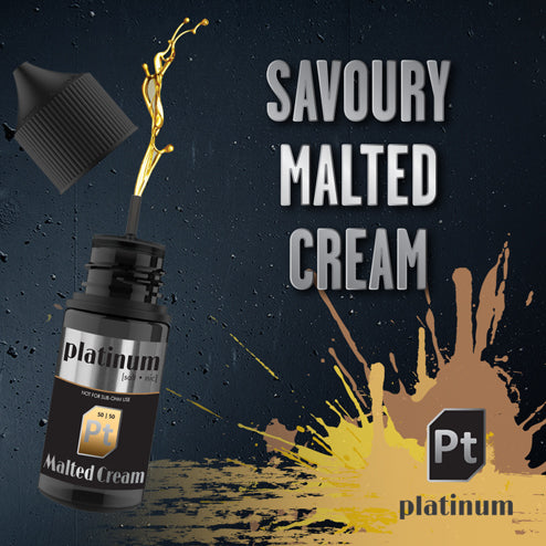 Platinum Vapour Nic Salts | Malted Cream 25mg