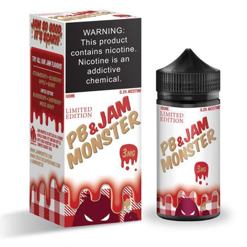 JAM MONSTER | PB&J Strawberry Limited Edition 100ML 3MG