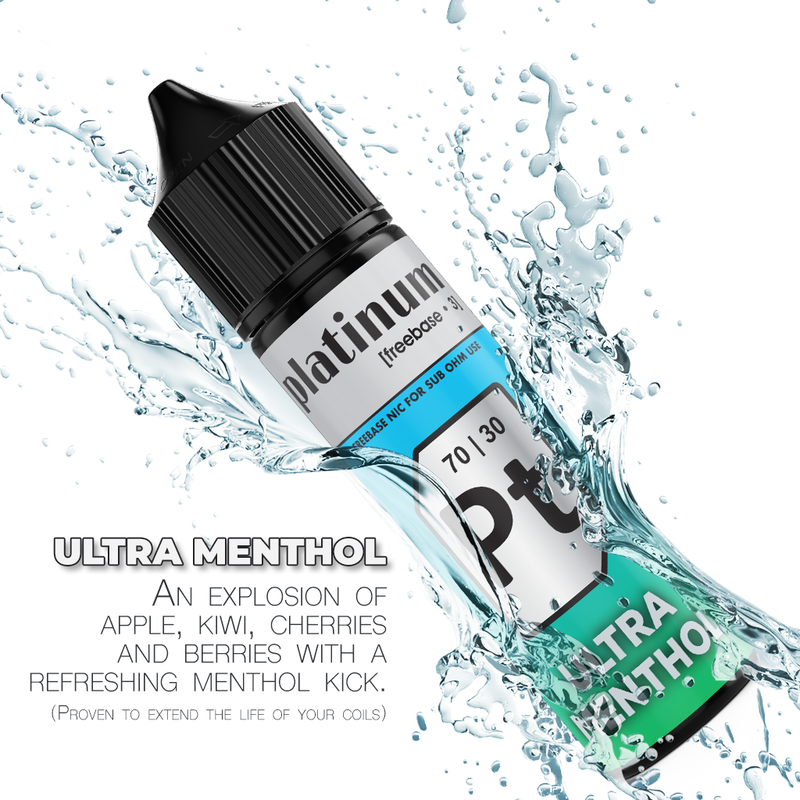 Platinum Vapour - Ultra Menthol 60ML/3MG