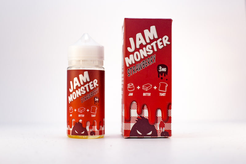 JAM MONSTER | Strawberry Eliquid 100ML 3MG