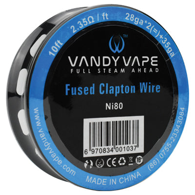 Vandy Vape Resistance Wire Ni80 Fused Clapton 26GA/35GA 10ft