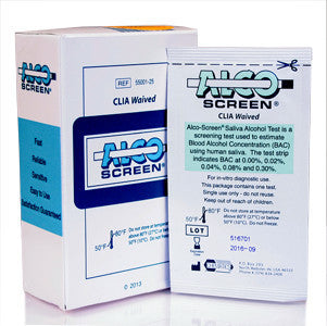 Alco-Screen® Saliva Alcohol Test - Rapid Test (Sold By The Box of 24)