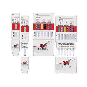Clarity™ 10-Panel Drug Test Dip Card, AMP/BAR/BZD/COC/THC/MTD/MET/OPI2000/PCP/TCA (25/box)