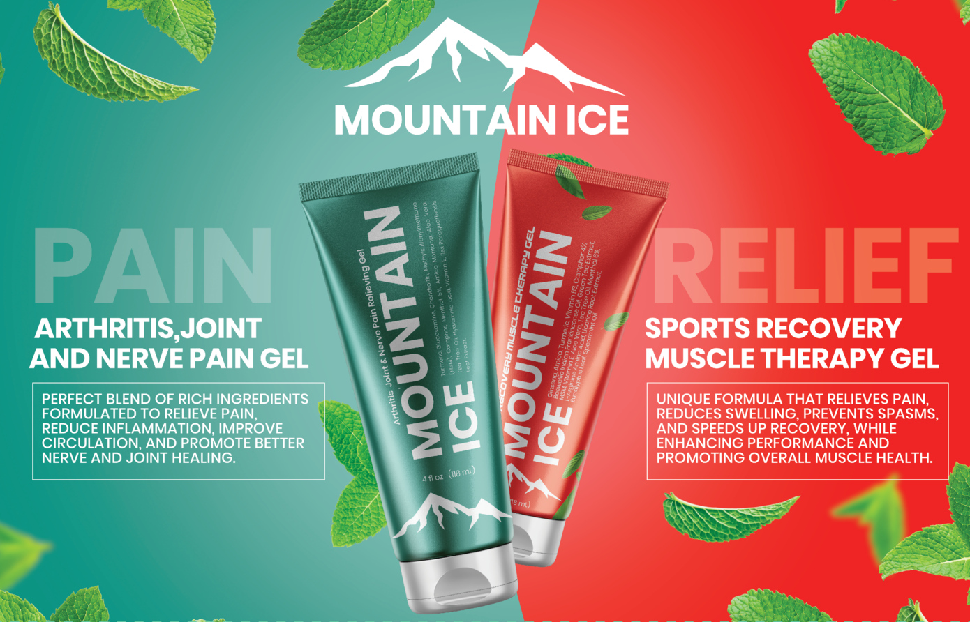 Mountain Ice Pain Relief Gel and Sports Recovery Gel