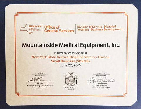About Mountainside Medical Equipment