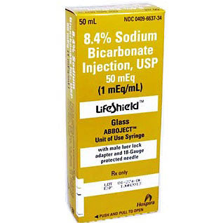 8.4% Hospira Lifeshield Sodium Bicarbonate Prefilled Syringe