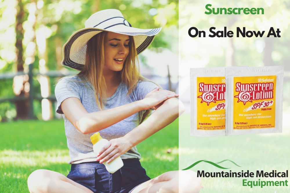 Sunscreen on Sale at Mountainside Medical Equipment