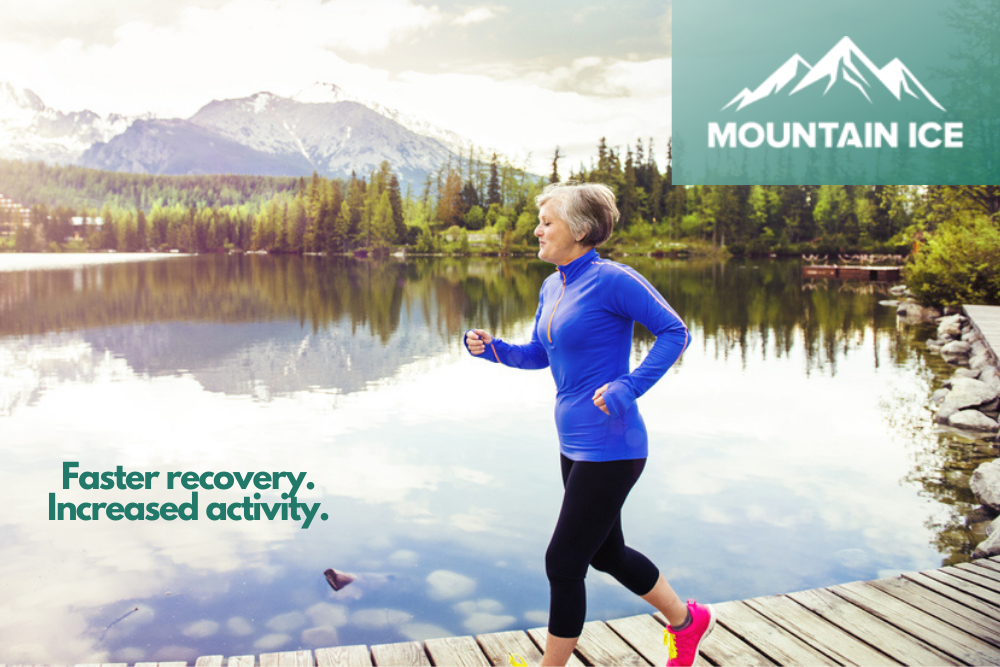 Increased Activity with Mountain Ice Pain Relief Gel