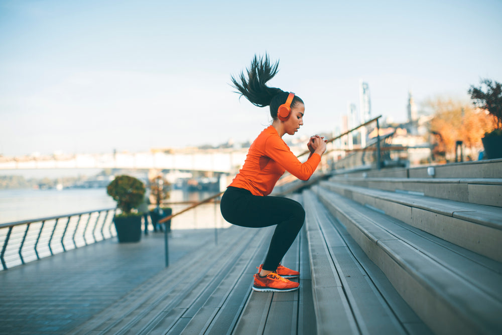 Woman Exercising for Women's Health Week
