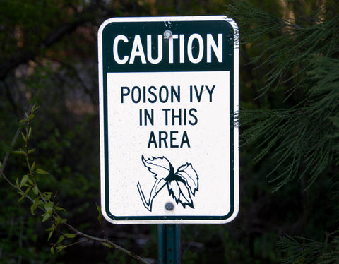 Poison Ivy Caution Sign