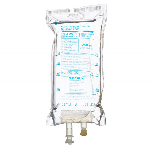 Sodium Chloride 0.9% IV Bags 250 mL (1-Bag)