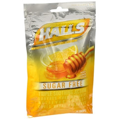 Buy Halls Sugar Free Triple Soothing Action Cough Drops, Honey Lemon online used to treat Cough Drops - Medical Conditions