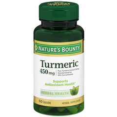 Buy Nature's Bounty Turmeric, 450 mg, 60 Capsules online used to treat Vitamins, Minerals & Supplements - Medical Conditions