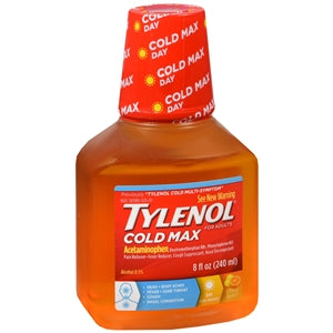 Tylenol Cold Max Daytime Citrus Burst Liquid, 8 oz.