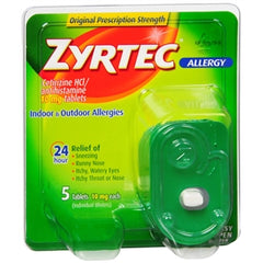 Buy Zyrtec 24 HR Allergy Relief, 5 Tablets online used to treat Allergy Relief Medicine - Medical Conditions