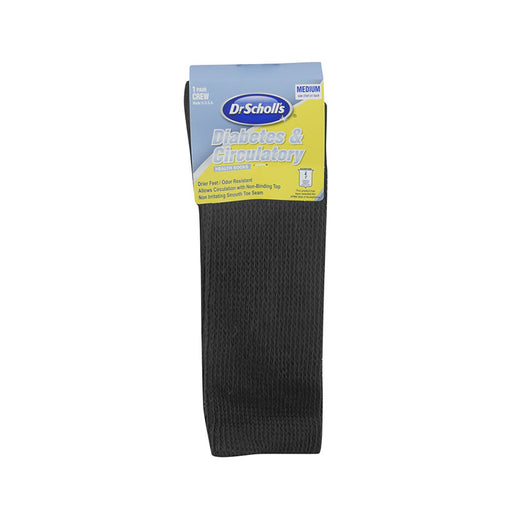 Buy Dr. Scholl's Diabetes & Circulatory Crew Socks, Black, XL, 1 pair online used to treat Diabetes Supplies - Medical Conditions