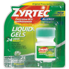Buy Zyrtec Liquid Gels, 25 count online used to treat Allergy Relief Medicine - Medical Conditions