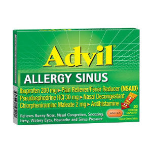 Advil Allergy and Sinus Capsules - Allergy Medicine - Mountainside Medical Equipment