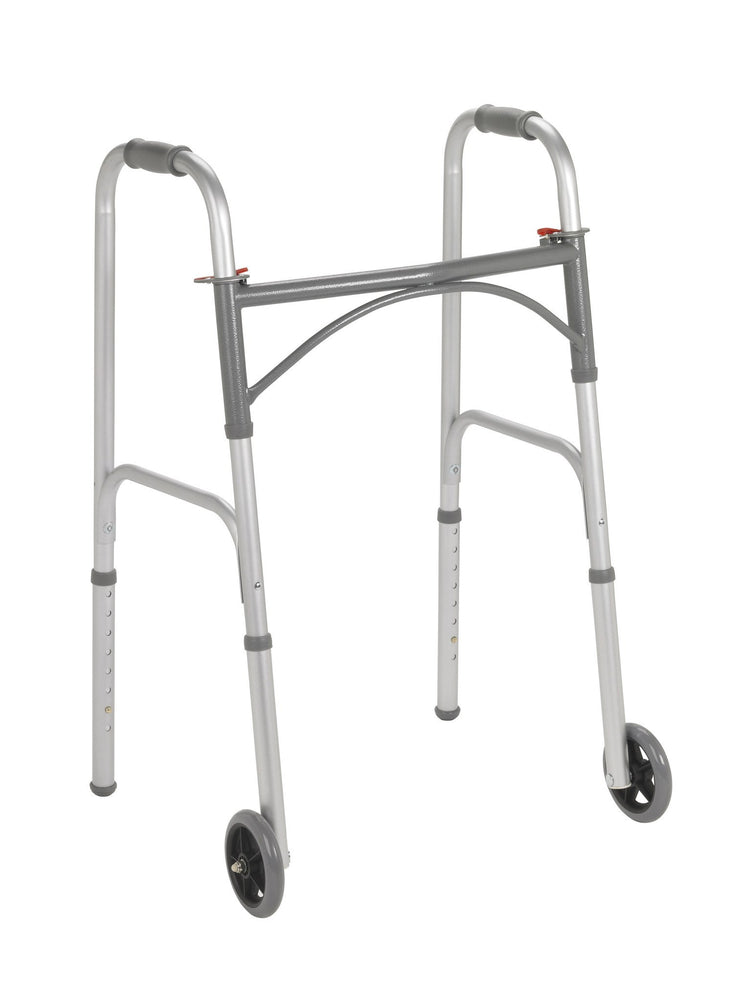 "Dual Release Adult Walker with 5"" Wheels - Rollators and Walkers - Mountainside Medical Equipment"