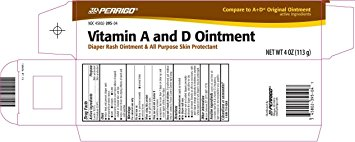 Perrigo Vitamin A & D Ointment - Diaper Rash Moisture Barrier - Mountainside Medical Equipment