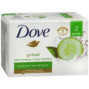 Buy Dove Go Fresh Cool Moisture Beauty Bar 2-Pack online used to treat Personal Care & Hygiene - Medical Conditions
