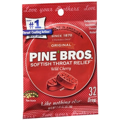 Buy Pine Bros. Softish Throat Drops, Wild Cherry online used to treat Sore Throat Relief - Medical Conditions
