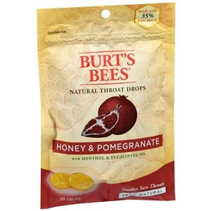 Buy Burt's Bees Natural Throat Drops, Honey & Pomegranate online used to treat Cough Drops - Medical Conditions