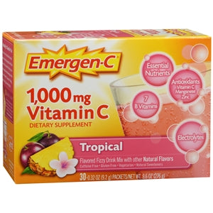Emergen-C Effervescent Tablets, Vitamin C Supplement, Tropical Fruit