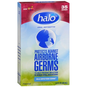 Halo Oral Antiseptic Spray, Berry Flavor - Sore Throat - Mountainside Medical Equipment