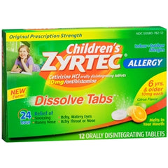 Buy Children's Zyrtec Dissolve Tabs online used to treat Allergy Relief Medicine - Medical Conditions