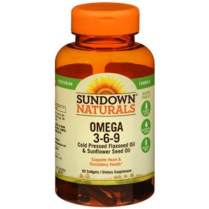 Sundown Naturals Omega 3-6-9 Vegetarian, 50 Softgels