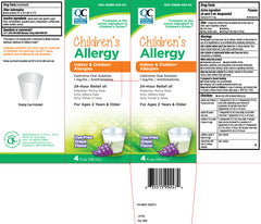 Buy QC Cetirizine Children's Allergy Relief Syrup Grape Flavor, 4 fl oz (Generic Zyrtec) online used to treat Generic Zyrtec Childrens Syrup - Medical Conditions