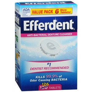 Efferdent Denture Tablets 126 Count for Denture Care by MedTech | Medical Supplies