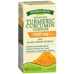 Buy Nature's Truth Advanced Turmeric Curcumin Complex 1500 mg, 60 Capsules online used to treat Vitamins, Minerals & Supplements - Medical Conditions