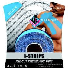 Mueller Kinesiology Tape, Pre-Cut Strips, Roll, Blue