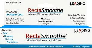 Buy RectaSmooth Hemorrhoidal Cream, 5% Lidocaine, 30 gram tube online used to treat Hemorrhoid Cream - Medical Conditions